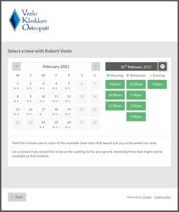 Online timebestillingsportal